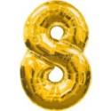 "Folienballondeko ""8"" (heliumgefüllt)"