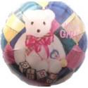 It's a Girl Luftballon aus Folie, Rundballon mit Ballongas Helium