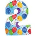 """Luftballons Folienballon- Deko """"Balloons"""" 2 inkl. Helium"""