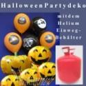 Partydeko Halloween mit dem Helium- Einwegbehälter