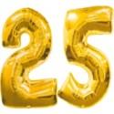 "Folienballondeko ""25"" (heliumgefüllt)"