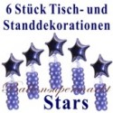 Dekoration Silvester, Stars, 6 Stück, Ballondekorationen zur Silvesterparty