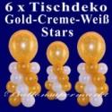 Tischdeko Luftballons Silvester, 6 Stück