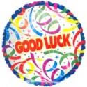 Good Luck, Viel Glück, Luftballon mit Ballongas-Helium, Ballongruß