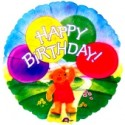 Happy Birthday Balloon Bear Luftballon mit Helium-Ballongas
