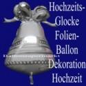 Hochzeitsglocke, Luftballon aus Folie zur Hochzeit ohne Helium
