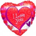 I Love you Heart Forever (heliumgefüllt)