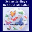 Schmetterlinge, Bubble Luftballon (mit Helium)