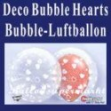 Deco Hearts, Bubble Luftballon (mit Helium)