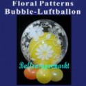 Floral Patterns, Bubble Luftballon (mit Helium)