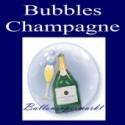 Champagne, Bubble Luftballon (mit Helium)