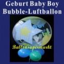Geburt-Baby-Boy, Bubble Luftballon (mit Helium)