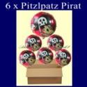 Pitzelpatz Pirat Luftballons mit Helium, Kindergeburtstag Geschenke, 6 Stück