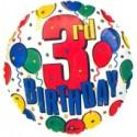 3rd Birthday, Luftballon aus Folie, Geburtstagsballon zum 3. (ohne Helium)