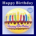 Happy Birthday Bubble Luftballon (ohne Helium)