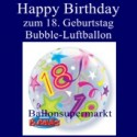 18. Geburtstag, Bubble Luftballon (ohne Helium)
