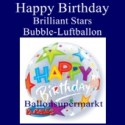 Happy Birthday Brilliant Stars, Bubble Luftballon (ohne Helium)