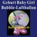 Geburt-Baby-Girl, Bubble Luftballon (ohne Helium)