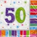 """Geburtstag 50 Deko Servietten """"Radiant Birthday"""""""