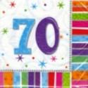 """Geburtstag 70 Deko Servietten """"Radiant Birthday"""""""