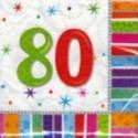 """Geburtstag 80 Deko Servietten """"Radiant Birthday"""""""