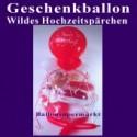 Geschenkballon Hochzeit: Wildes Hochzeitspärchen im Hochzeitsballon