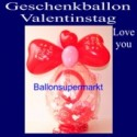 "Geschenkballon ""I Love You"" Valentinstag"
