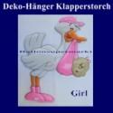 Klapperstorch-Deko-Geburt, Girl-Mädchen