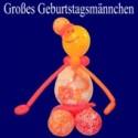 Große Geburtstagsfigur aus Luftballons