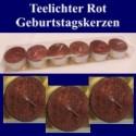 Teelichter-Geburtstagskerzen-Rot