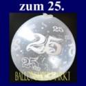 25. Jubiläum, Geschenkballons, Stuffer, Silberhochzeit