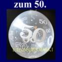 50. Jubiläum, Geschenkballons, Stuffer, Goldene Hochzet, 50. Geburtstag