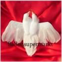 Hochzeitstauben mit Ringen, Hochzeitsdeko Taubenpaar