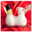 Großes Taubenpaar, Hochzeit-Tischdeko