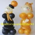 Hochzeitsdeko-Hochzeitspaar aus Luftballons, Goldene Hochzeit