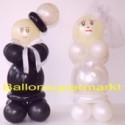 Hochzeitsdekoration-Hochzeitspaar aus Luftballons 03