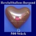Herzluftballons Burgund 500 Stück
