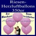 Riesenherzluftballons Hochzeit