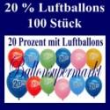 Luftballons 20 Prozent, 100 Stück