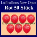 Luftballons Neueröffnung, New Open, Rot, 50 Stück