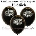 Luftballons Neueröffnung, New Open, Schwarz, 10 Stück