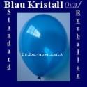 Luftballons Standard R-O 27 cm Blau-Kristall 100 Stück