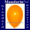 Luftballons Standard R-O 27 cm Mandarin 100 Stück
