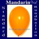 Luftballons Standard R-O 27 cm Mandarin 10 Stück