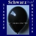 Luftballons Standard R-O 27 cm Schwarz 10 Stück