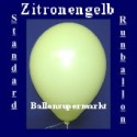 Luftballons Standard R-O 27 cm Zitronengelb 10 Stück