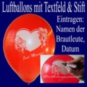 "Luftballons ""Just Married"" mit Stift  25 Stück"