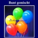 Luftballons, 40 cm, Bunt gemischte Rundballons