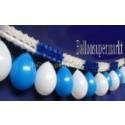 Girlande mit Luftballons Blau-Weiss 05