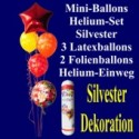 Mini-Ballons-Helium-Set-Silvester, Silvester-Luftballons Happy New Year, Silvesterdekoration